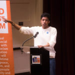 Justin Jones speaks at the Youth Empowerment Forum