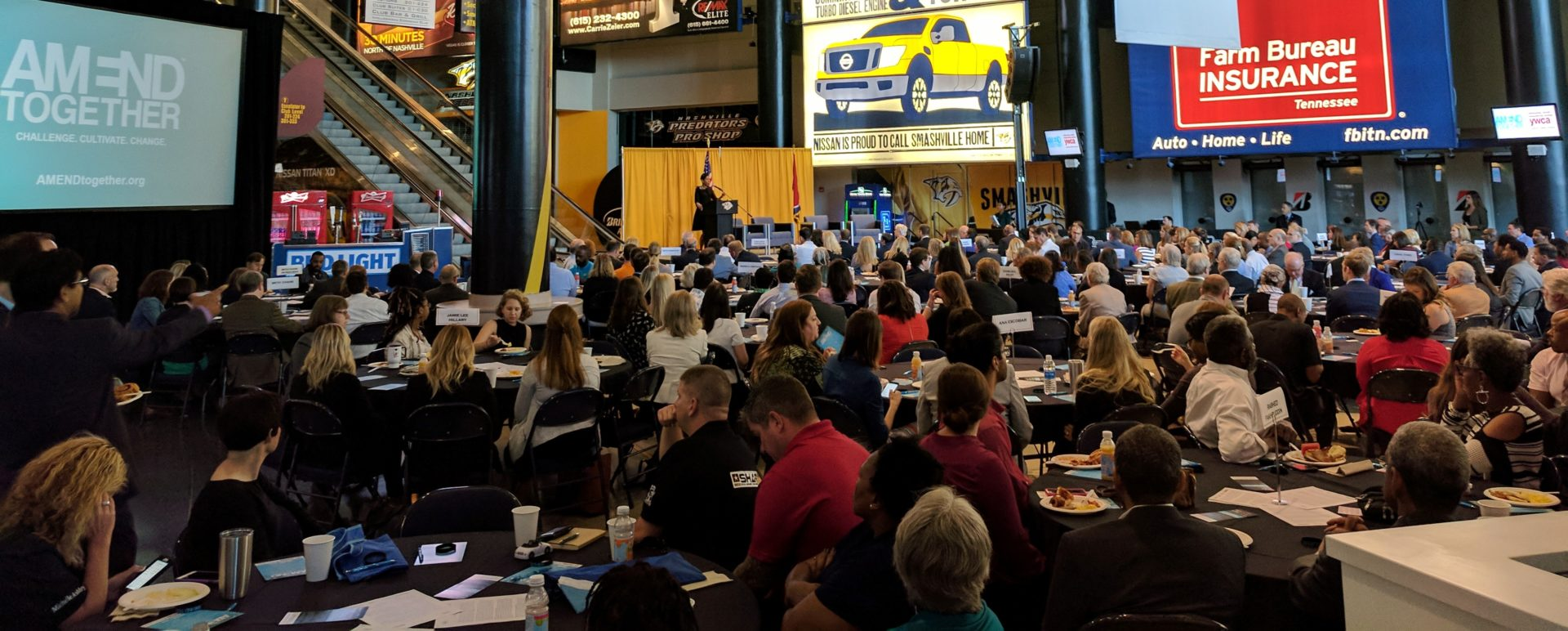 Crowd at the 2017 AMEND Experience in Bridgestone Arena