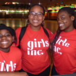 Middle school students at the skate rink during our Girls Inc Summer Break camp