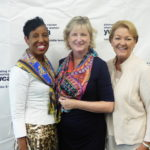 YWCA CEO Sharon K. Roberson with Board Chair Janet Miller and Chair-Elect Wanda Lyle