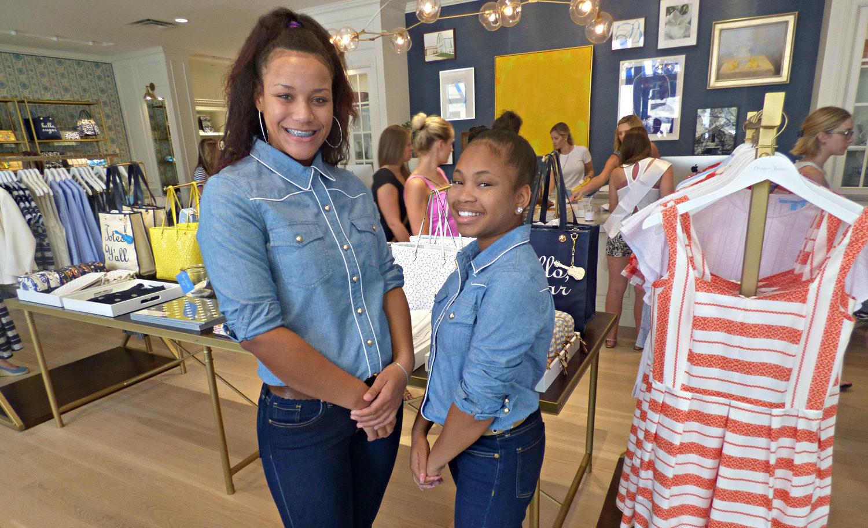 Girls Inc. students at Draper James storefront